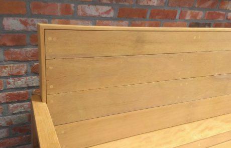 hout bank op maat gemaakt